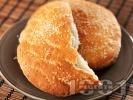 Рецепта Марокански сусамени питки за хлебопекарна със сусам, грис и анасон (със суха мая)